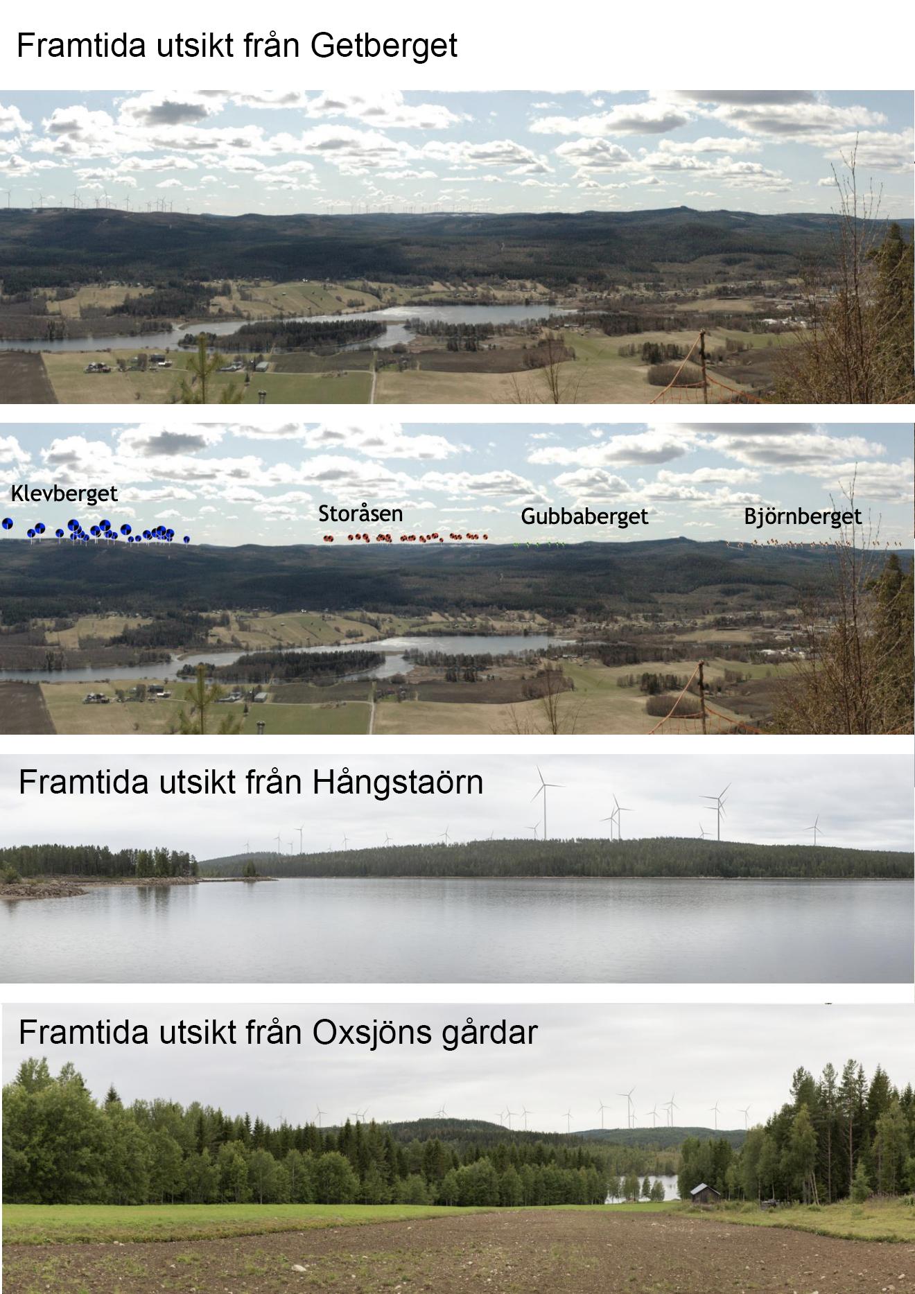 Framtida utsikter från Getberget, Hångstaörn och Oxsjön